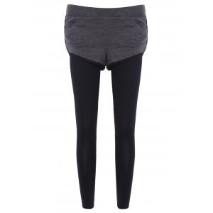 Slim Pockets Fake Twinset Leggings