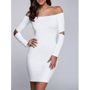 Cut Out Off The Shoulder Long Sleeve Bodycon Dress