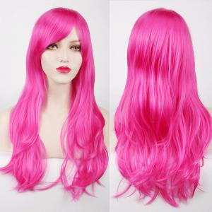 Multicolor Long Side Bang Layered Tail Adduction Cosplay Lolita Synthetic Wig