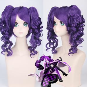 Cosplay Medium Side Bang with Curly Bunches Vivaldi Kingdom Hearts Synthetic Wig