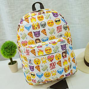 Emoji Imprimer Nylon Backpack