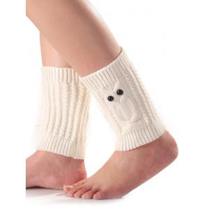 Warm Button Owl Crochet Knit Boot Cuffs