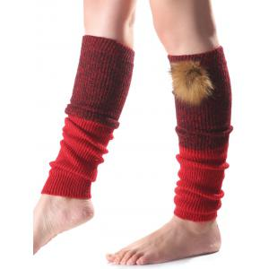 Warm Faux Mink Hair Knit Leg Warmers