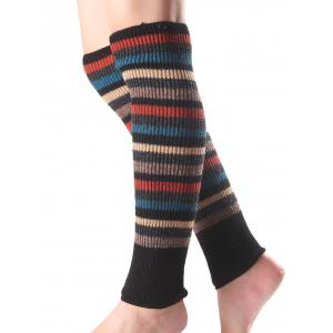 Warm Multicolor Stripe Knit Leg Warmers