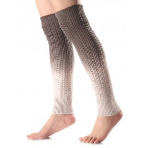 Warm Ombre Knit Leg Warmers - Gray