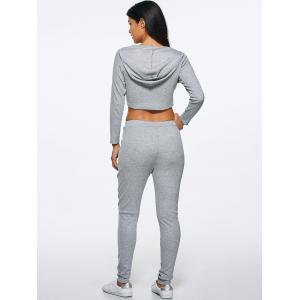 Hooded Crop Top and Pants -