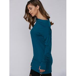 Skew Neck Tunic T-Shirt -