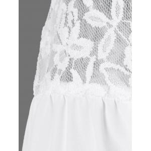Openwork Lace Patchwork Smock Blouse -