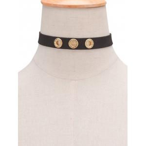 Rhinestone Hollow Out Choker Necklace - BLACK