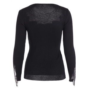 Leaf Pattern Lace Knitwear -