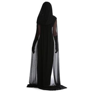 Fancy Dress Cosplay Suit Witch Hooded Halloween Costume Supplies -