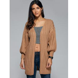 Bat Sleeve Cable Cardigan -