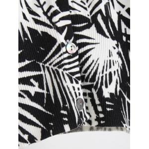 Buttoned Printed Cardigan -