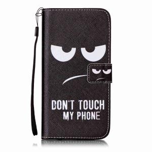 Angry Eyes Leather Wallet Design Cover Case For iPhone 7 Plus -