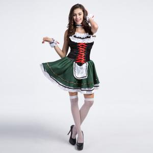 Beer Festival Sleeveless High Grade Costume Maid Outfit -