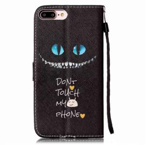 Eyes Letter PU Wallet Card Design Case For iPhone 7 Plus -