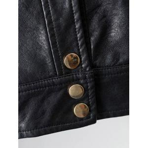 PU Leather Buttons Short Jacket -