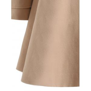 Warm Double-Breasted Felt Trench Coat - CAMEL XL