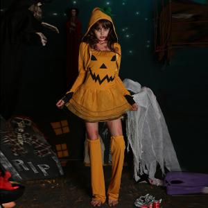 Halloween Party cosplay Pumpkin Costume Sorcière -