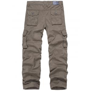Zip Fly Multi-Pocket Straight Cargo Pants -