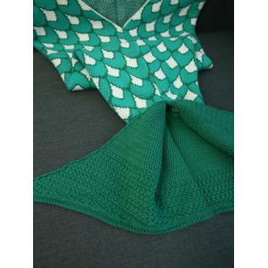 Knitting Jacquard Design Mermaid Tail Shape Blanket -