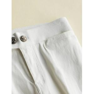 Fleece High-Waisted Slimming Ankle Pencil Pants -