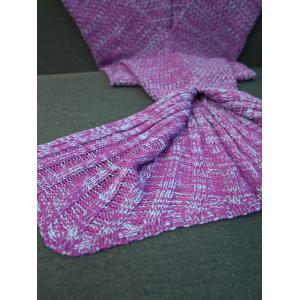 Super Soft Crochet Yarn Knitted Fish Tail Shape Blanket -