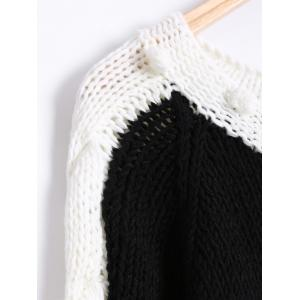 Twist Jacquard Hand-Knitted Sweater -
