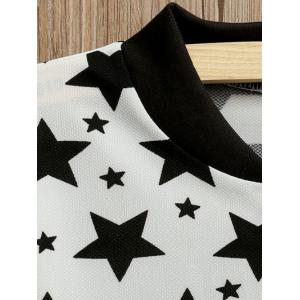 Zipper Fly Star Print Bomber Jacket -