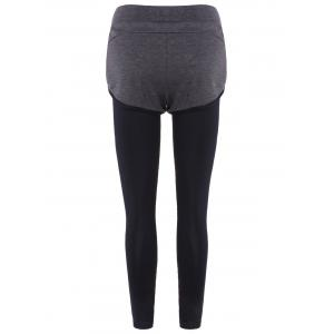Slim Pockets Fake Twinset Leggings -