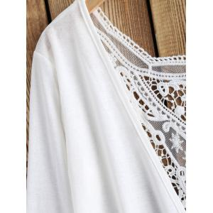 Lace Splicing Openwork Cardigan -