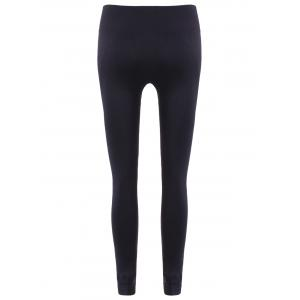 Slim Tighten Waist Ninth Leggings - BLACK L