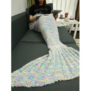 Good Quality Knitted Sofa Bed Mermaid Tail Blanket -