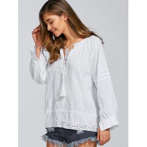 Long Sleeve Loose Fitting Casual Blouse -