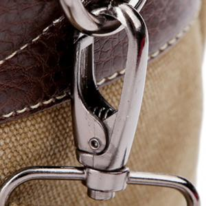 Double Buckle Snap Closure PU Leather Messenger Bag -
