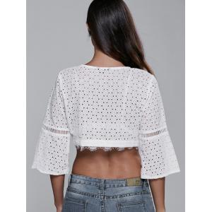 Plunging Neck Knotted T-Shirt -