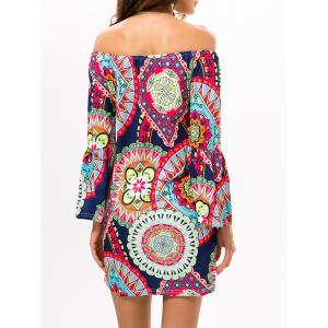 Printed Off The Shoulder Mini Casual Dress -