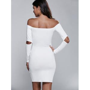 Cut Out Off The Shoulder Long Sleeve Bodycon Dress -