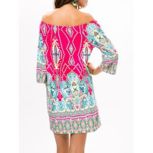 Ethnic Style Off The Shoulder Printed Dress -