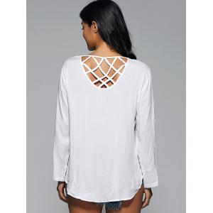 Embroidered Strappy Criss Cross Blouse -