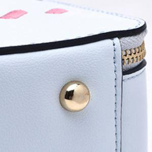 Colour Splicing Hand Print Color Diamond Crossbody Bag -