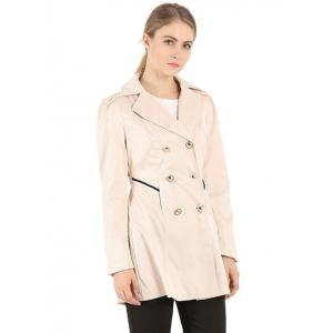 Slim Fit Double Breasted Dressy Trench Coat -