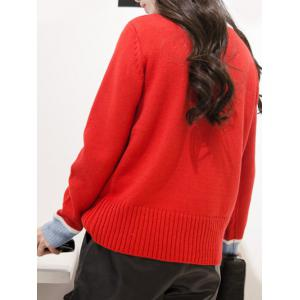 V Neck Single-Breasted Cardigan -