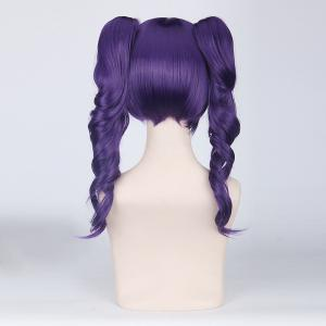 Long Full Bang with Curly Bunches Katen Kyou Kotsu Bleach Cosplay Synthetic Wig -