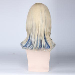 Medium Side Bang Tail Adduction Cosplay Harajuku Lolita Synthetic Wig - COLORMIX