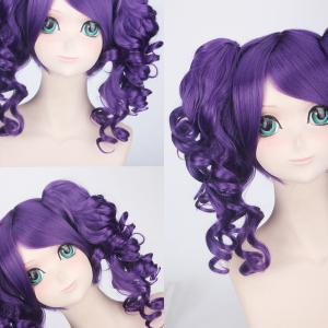 Cosplay Medium Side Bang with Curly Bunches Vivaldi Kingdom Hearts Synthetic Wig - PURPLE
