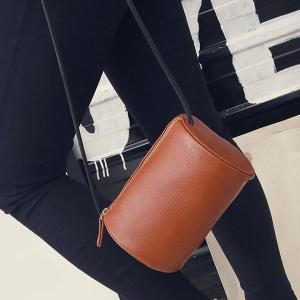 Cylinder Shaped Mini Crossbody Bag -