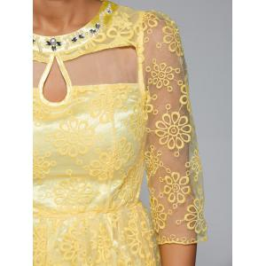 Embroidery See-Through Voile Dress -