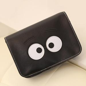 Stitching Cartoon Eyes Crossbody Bag - BLACK