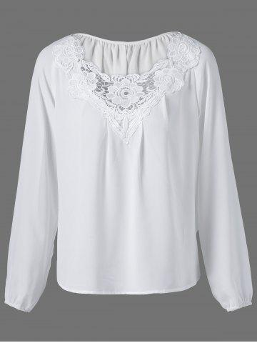 New Lace Patchwork Peasant Blouse